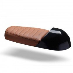 SELLE C-RACER DOUBLE ASSISE MARRON COQUE NOIR