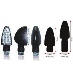 CLIGNOTANTS TRIANGLE LEDS LONG NOIR