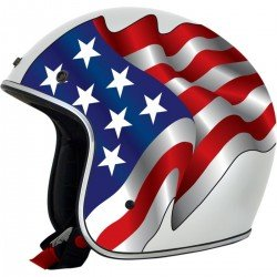 CASQUE AFX FX 76 FLAGS FREEDOM/BLANC