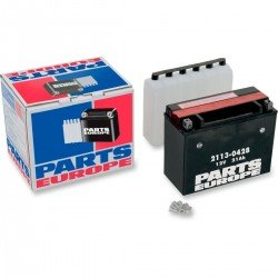 PARTS EUROPE BATTERIES BATTERY AGM MAINTENANCE FREE 12V 21 AH 350A 6.5 KG 206.38 MM X 87.31 MM X 161.93 MM BLACK