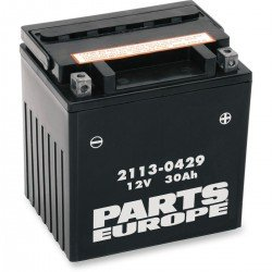 PARTS EUROPE BATTERIES BATTERY AGM MAINTENANCE FREE 12V 30 AH 385A 10 KG 166.69 MM X 127 MM X 174.63 MM BLACK
