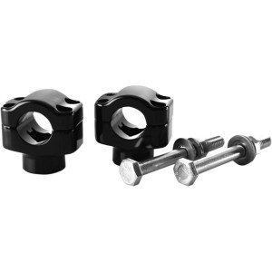 BRITISH CUSTOMS HANDLEBAR CLAMP 6061 ALUMINIUM BLACK GLOSS ANODIZED