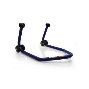 """Béquille arrière BIHR BY LV8 avec support caoutchouc """"L"""" bleu universel"""
