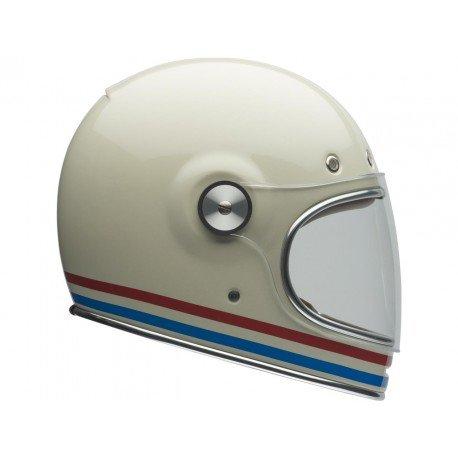 casque bell bullitt stripes pearl blanc older racer. Black Bedroom Furniture Sets. Home Design Ideas