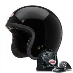 CASQUE BELL CUSTOM 500 SOLID VINTAGE NOIR BRILLANT