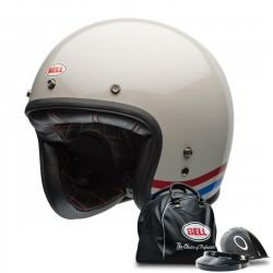 CASQUE BELL CUSTOM 500 STRIPES PEARL BLANC