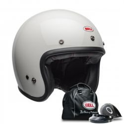 CASQUE BELL CUSTOM 500 SOLID VINTAGE BLANC