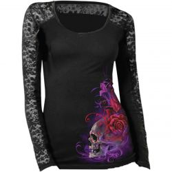 TEE SHIRT LETHAL THREAT FEMME PURPLE HAZE MANCHES LONGUE