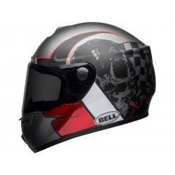 Casque BELL SRT Hart-Luck Gloss/Matte Charcoal/White/Red Skull