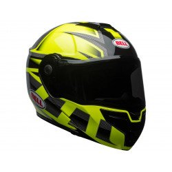 Casque BELL SRT Modular Gloss HI-VIZ Green/Black Predator