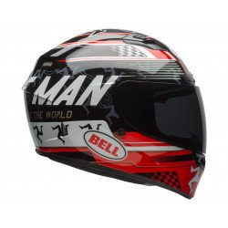 Casque BELL Qualifier DLX Mips Isle Of Man 18 Gloss Black/Red (Transitions/Bluetooth)