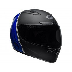 Casque BELL Qualifier DLX Mips Illusion Matte/Gloss Black/Blue/White (Transitions/Bluetooth)