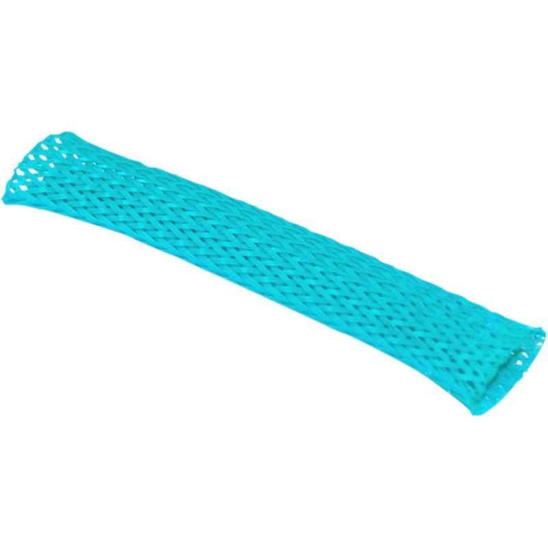 Gaine flexible  de faisceau de câbles de 10 mm BLEUE/VERT
