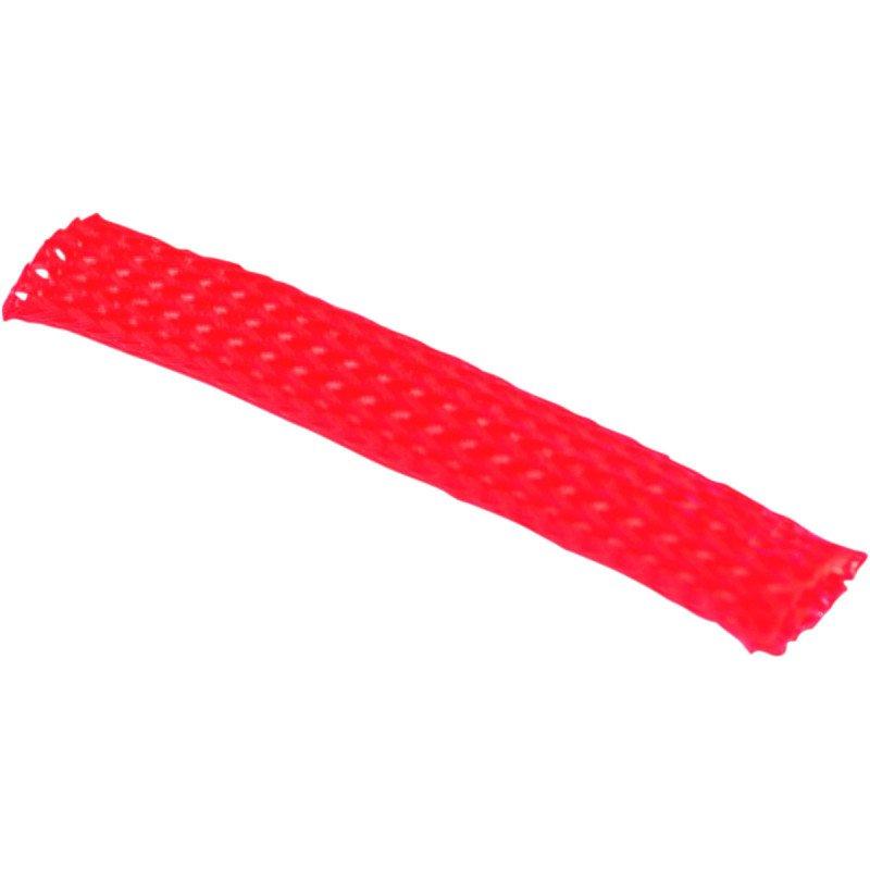 Gaine flexible  de faisceau de câbles de 10 mm ROUGE