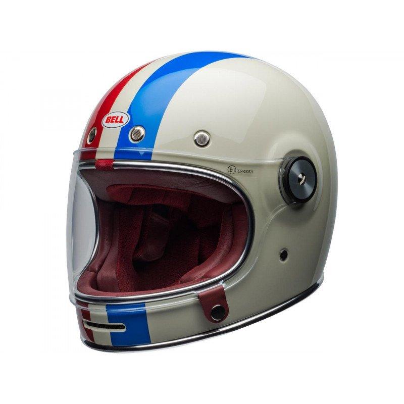 Casque BELL Bullit DLX Command brillant blanc/rouge/bleu