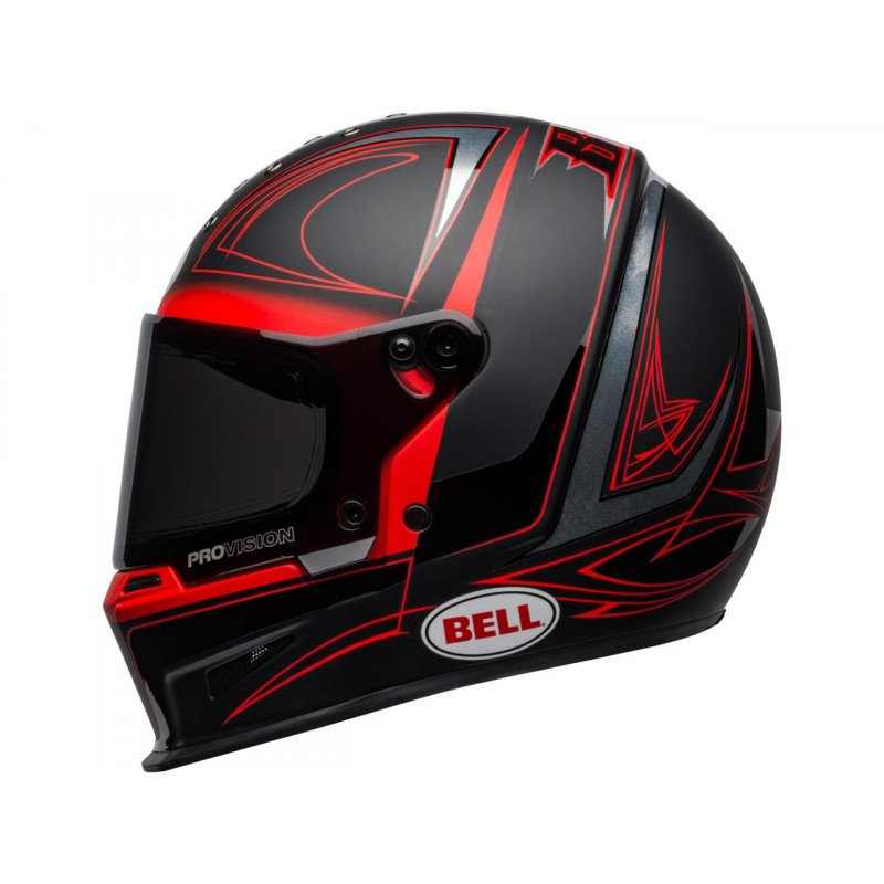 Casque BELL Eliminator Hart luck Mat/Brillant Noir/Rouge/Blanc