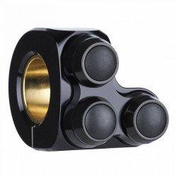COMMODO GAUCHE MOTOGADGET mo.switch basic noir/ noir, 3 boutons