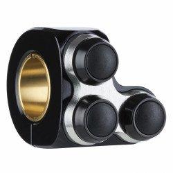 COMMODO DROIT MOTOGADGET mo.switch basic noir/ noir, 3 boutons