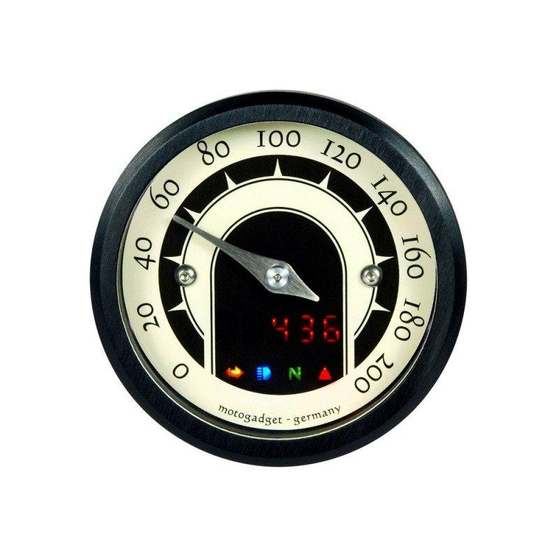 COMPTEUR MOTOSCOPE TINY MST SPEEDMASTER NOIR 49mm
