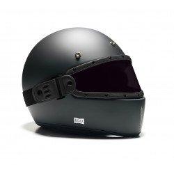 Ecran LEO cuir noir verre fumé pour casque NEXX X.G100