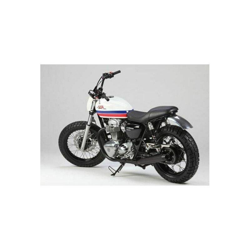 Garde boue arrière alu nu LSL Kawasaki W650/800 roue de 18'' older racer